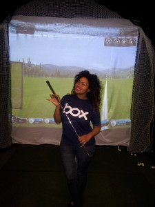 At Eagle Driving range in Silicon Valley